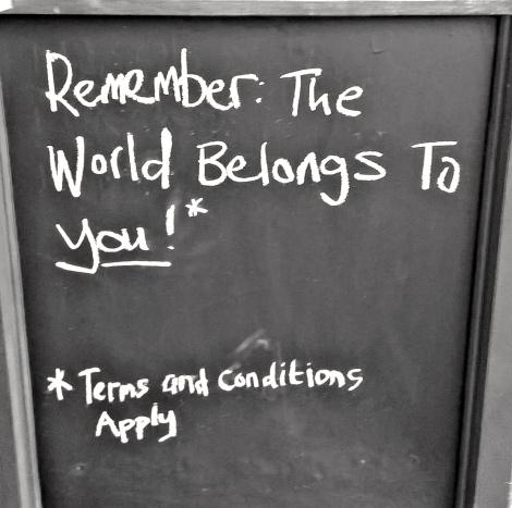 World belongs 2u - T&C apply