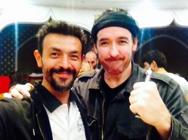 Ambassador Philippe Joly and Adrien Brody